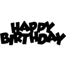 Craft Dies Stencil Scrapbooking Art-Card Paper Cuts Happy-Birthday Metal Sentiment Emboss