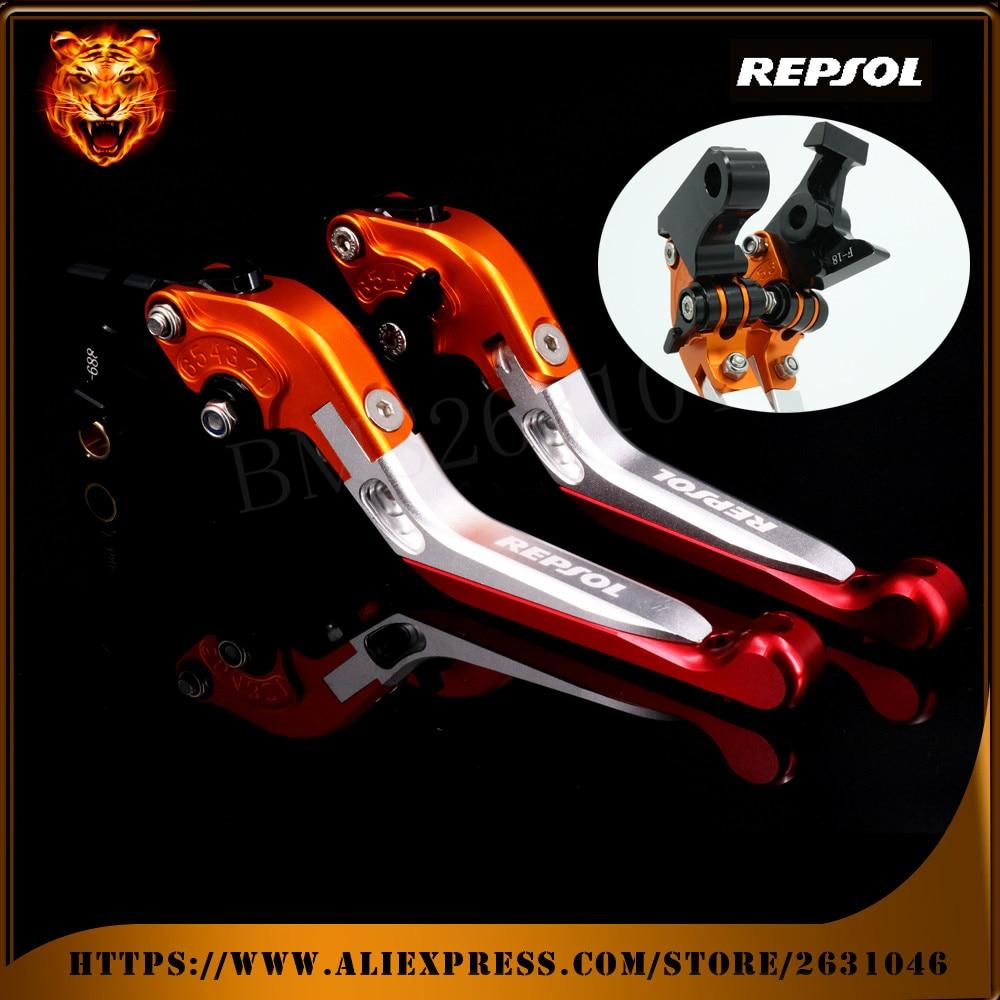 Motorcycle Adjustable Folding Extendable Brake Clutch Levers REPSOL For HONDA CB599/CB600 Hornet, CBR600 F2/F3/F4/F4i CBR900RR folding extendable brake clutch levers for honda cb919 cb900f hornet 900 2002 2007