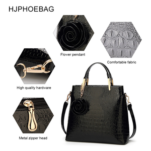 Image 3 - HJPHOEBAG Womens large capacity crocodile pattern handbag casual crocodile shoulder bag Messenger bags ladies bolso mujer YC194