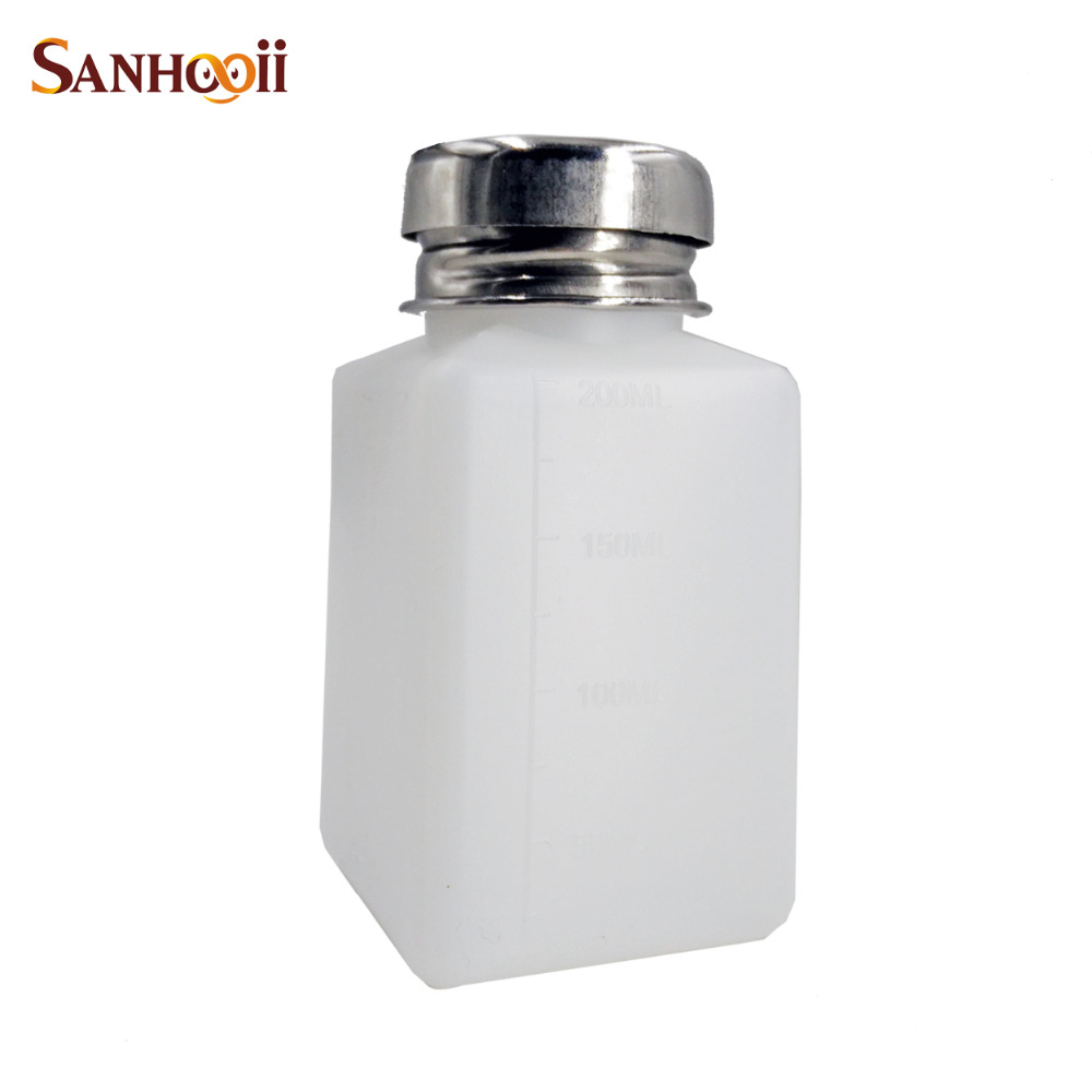 180ml Pressing Pump Liquid Alcohol Rosin Thinner Nail Polish Remover Dispenser Cleaner Empty Pumping Bottle Durable