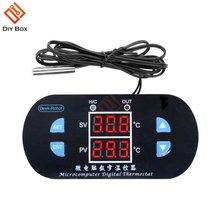 Цифровой термостат w1308 ntc10k 12 В 10 А двойной дисплей регулируемый