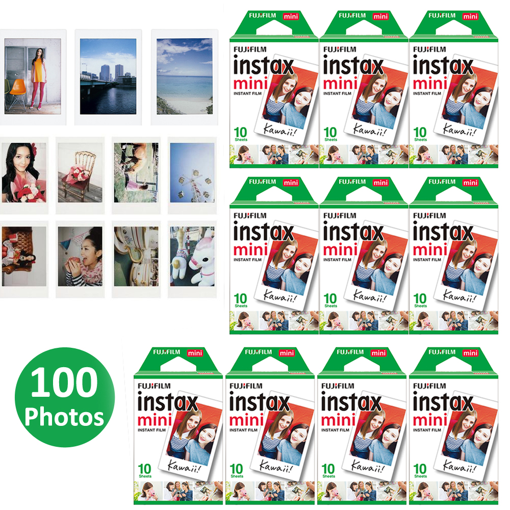 100 Sheets Fujifilm Instax Mini film for Fuji Instax Mini 9 8 70 25 50s 90