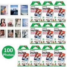Authentique 100 feuilles Fujifilm Instax Mini film blanc pour Fuji 7s 8 9 11 caméra Photo instantanée SP2 SP1 imprimante LINK