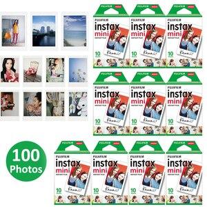 Image 1 - Authentique 100 feuilles Fujifilm Instax Mini film blanc pour Fuji 7s 8 9 11 caméra Photo instantanée SP2 SP1 imprimante LINK