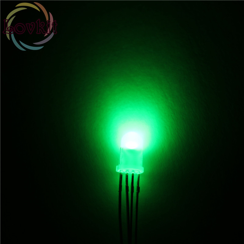 100x RGB 5mm Common Anode Diffused Leds High Quality USA
