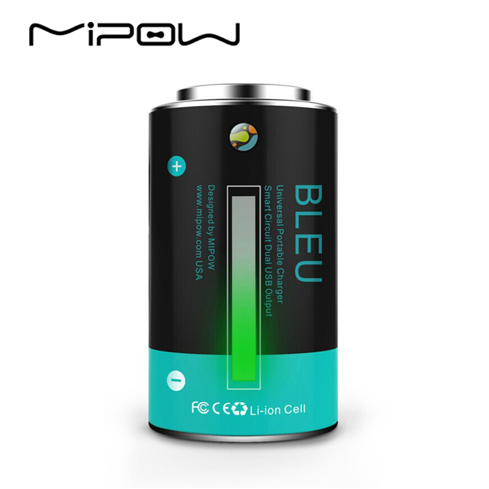 imágenes para MIPOW Clásico Diseño de La Batería 10400 mAh Cargador Portátil Banco de Potencia Tubo de Emergencia Al Aire Libre para la mayoría de Teléfono Celular Móvil y tabletas