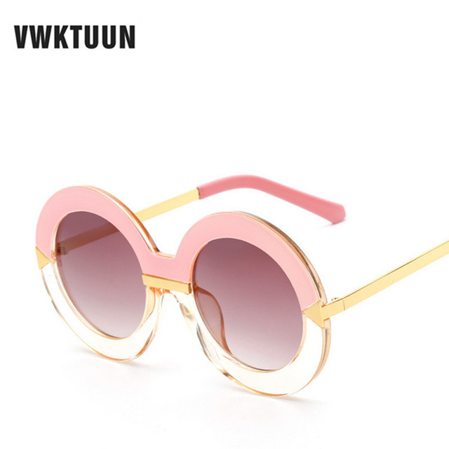 6d1360dab2bd VWKTUUN Women Round Sunglasses Vintage Classic Arrows Sunglass Brand Design  Round Circle Sun glasses Female Outdoor Eyewear