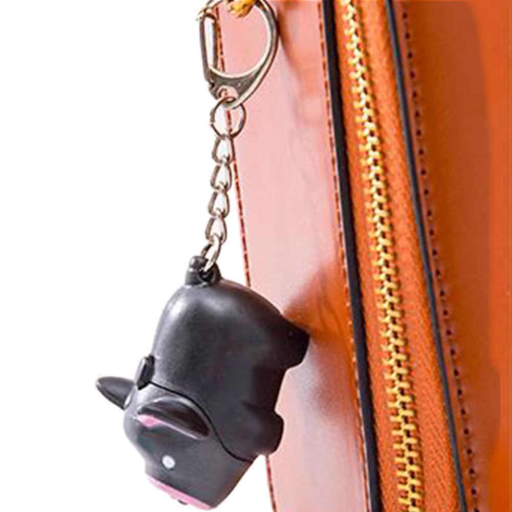 Подвеска подарок легкий подвесной светодиодный источник освещения Звук брелок Портативный прочный декоративный мультфильм Копилка милый брелок для ключей световой