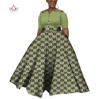 2019 Dashiki African Dresses For Women Colorful Daily Wedding Size S 6XL African Dresses For Women Ankle Length Dress WY3853