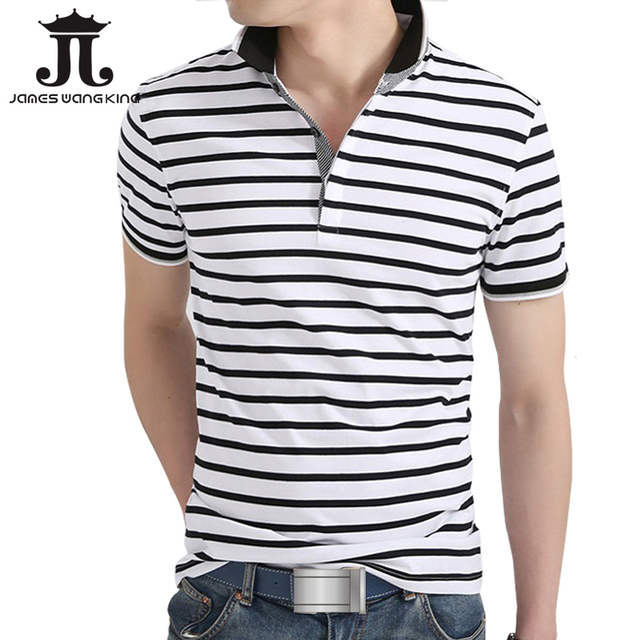 High quality summer mens polo Stripe shirt brands cotton short sleeve casual men shirts camisa polo ralp homme New 2017 M-XXXL