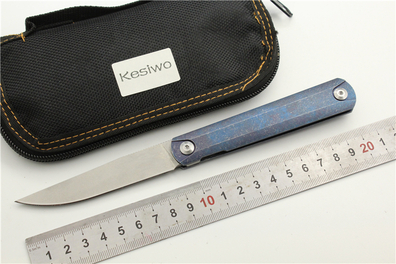 KESIWO KS10 S35VN Blade Folding Pocket Knife Ball Bearing Flipper EDC Knife Outdoor Camping Fruit Fishing Knife Hand tool quality tactical folding knife d2 blade g10 steel handle ball bearing flipper camping survival knife pocket knife tools