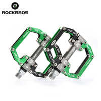 ROCKBROS Cycling MTB Ultralight Bike Bicycle Pedals Mountain Road Bike Part Pedals Aluminum Alloy 3 Styles Bicycle Hollow Pedals