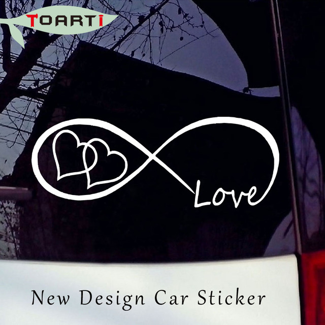 Love heart infinity forever symbol vinyl decal car window bumper stickers family creative animal pvc removable