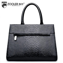ZOOLER2016 new high-quality luxury fashion brand serpentine shoulder bag counter genuine leather handbag women famous brands
