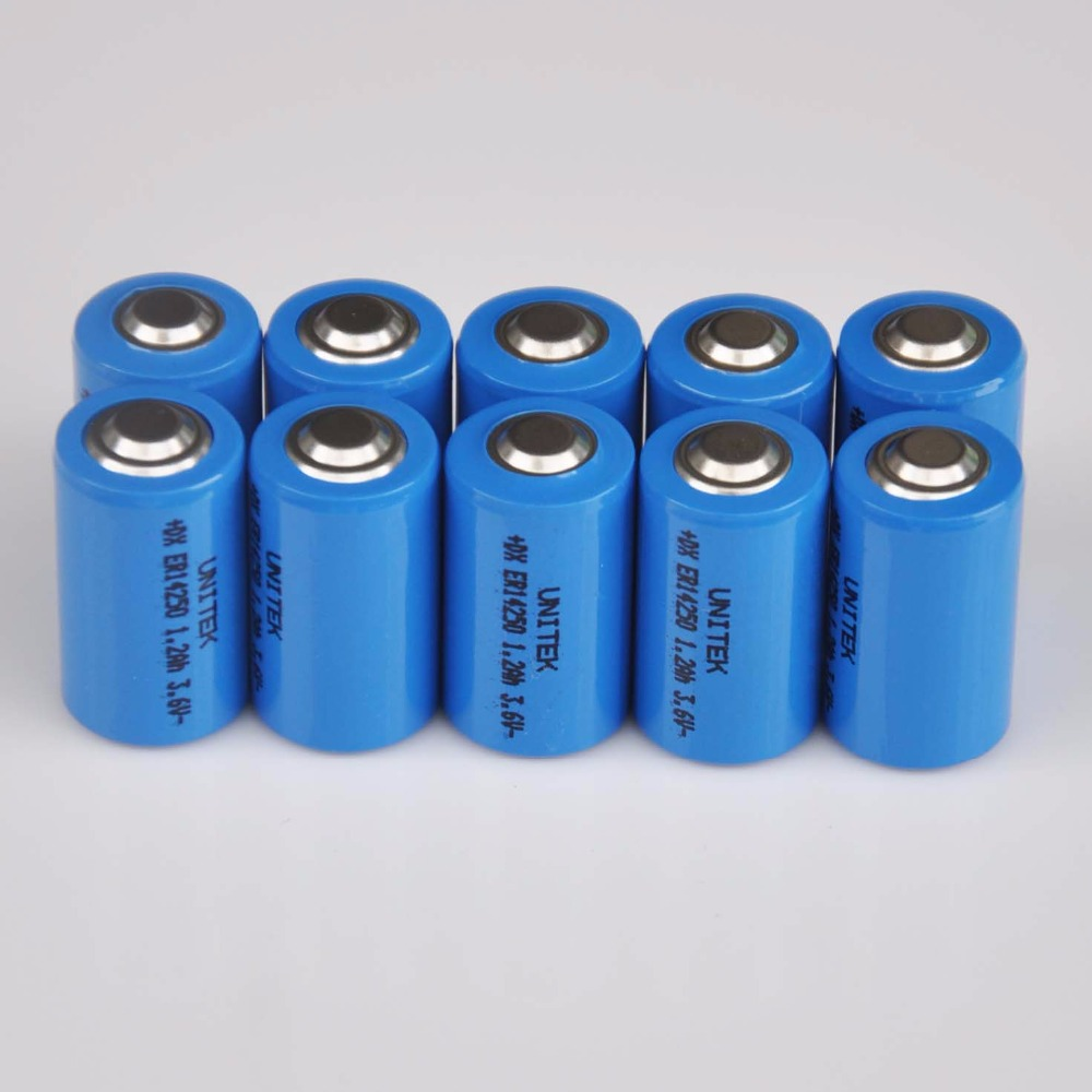 10PCS ER14250 <font><b>1/2AA</b></font> 3.6V liSOCL2 Lithium battery 1/2 AA 14250 PCL dry primary cell 1200mah water meter replace for SAFT LS14250 image