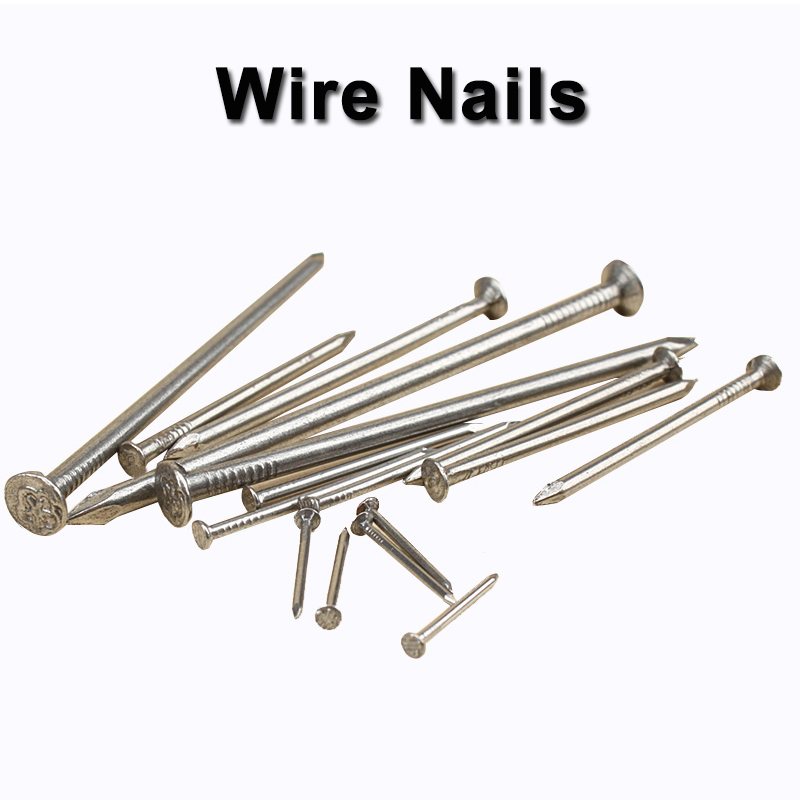 30-500pcs Wire Nails Flat Head Carbon Steel Hardware Nail Diameter 1mm, 1.5mm, 2mm, 2.5mm, 3mm, 3.5mm, 4mm