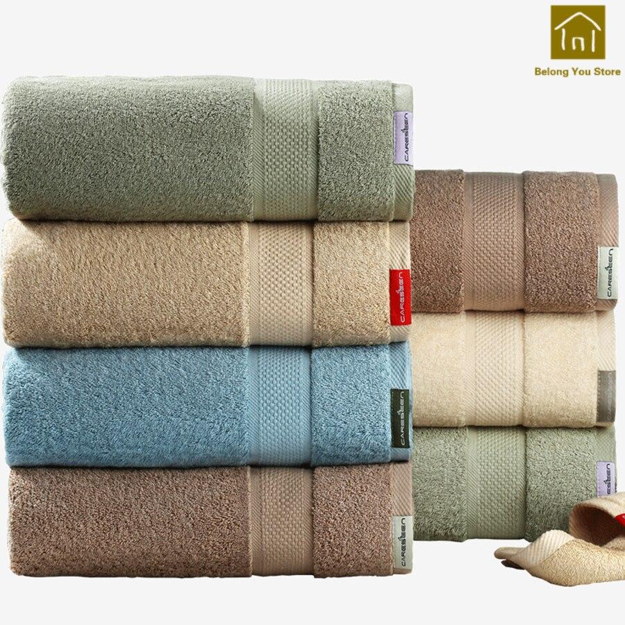 Plus épais féminin Couple serviettes doux absorbant hôtel salle De bain Toallas serviette voyage Toalha De Banho serviettes De bain pour adultes WKZ008 - 3