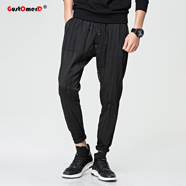 GustOmerD Spring Mens Joggers 2017 Fashion Brand Male Trousers Men Pants Casual Striped Mens Sweatpants Jogger Pants Men