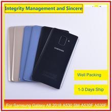 50 ชิ้น/ล็อตสำหรับ Samsung Galaxy A8 2018 A530 SM A530F A530F แบตเตอรี่ประตูด้านหลังกรณีแชสซี SHELL