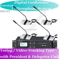 Top-Ranking Pro Voting Video-tracking Teleconference Digital Meeting Microphone System President and Delegate