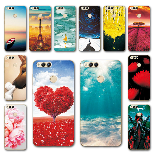 on sale 89c4d 992f2 US $0.81 30% OFF|Newest Painting Case For Huawei Honor 7X Various Phone  Shell, Soft Silicone Cover For Huawei Honor7X 7 X BND L21 Fundas-in Fitted  ...