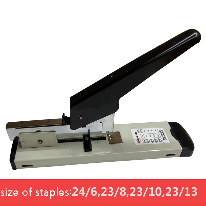 Heavy Duty 120 Sheets Stapler With Ruler, Adjustable Binding Thickness Metal Paper Stapler Fit Staples 24/6, 23/8, 23/10, 23/13