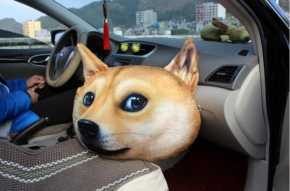 Fashion 6050cm 3 D Printing Size Big Dog Sofa Cushion Car Seat Plush Neck Pillow Free Shipping In From Home Garden On Aliexpress