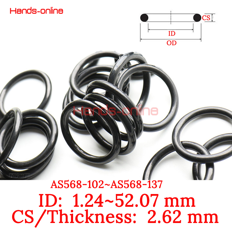 10pcs/lot AS568-102~137 Rubber Gasket Ring seal Washer Seals CS/Thickness 2.62mm O-ring gaskets Ring seal Oring ID 1.24-52.07mm 10pcs lot yt919 ptfe gasket sealing ring washer backup ring 30 39 2 mm free shipping