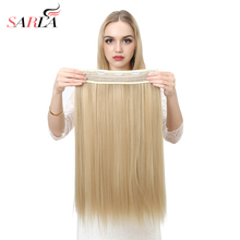 SARLA 10Pcs/lot 24″ 60cm Long Straight Clip-in Hair Extensions High Temperature Synthetic Hairpieces 50 colors Available 666