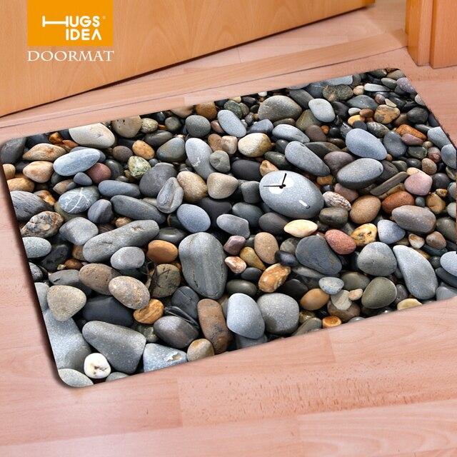 hugsidea funny front door mats 3d goose stone pattern nonslip home floor carpet tapis