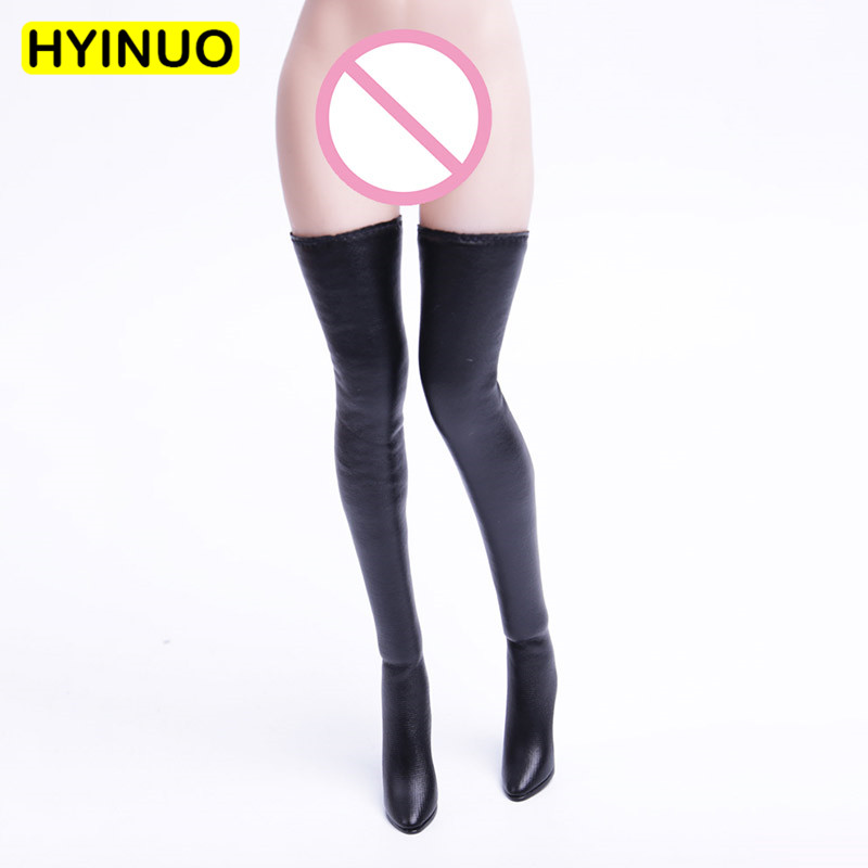 """5 Colors 1/6 Scale Female Sexy Long Boots Women Lace-up Leather Boots Clothes Clothing Set For 12"""" Action Figure Female Body"""