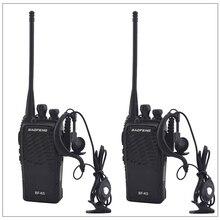 2 יח\חבילה baofeng BF K5 UHF 400 480MHz דו דרך רדיו משדר BAOFENG מכשיר קשר עם אפרכסת חם חובב רדיו