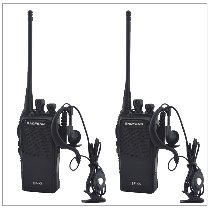 2pcs/Lot Baofeng BF-K5 UHF 400-480MHz Portable Two-way Radio Transceiver BAOFENG Walkie-Talkie With Earpiece Ham Amateur Radio