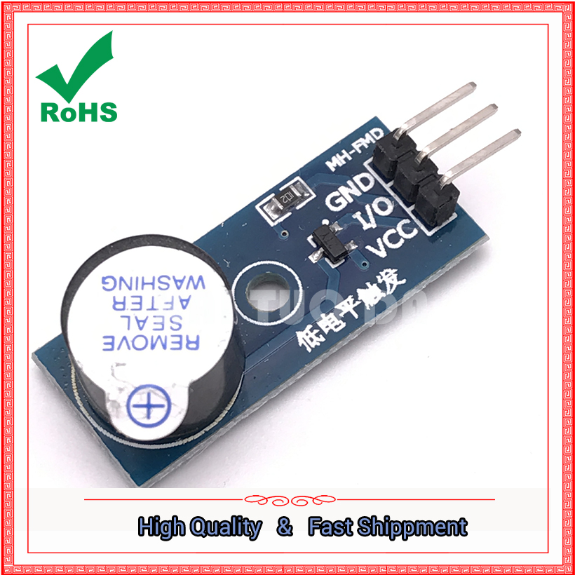 <font><b>Electronic</b></font> building blocks active buzzer module low level trigger buzzer control panel board