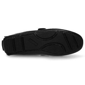 Image 2 - Große Größe Männer Müßiggänger Schuhe Leder 2020 Mode Männer casual Schuhe Männer Wohnungen Slip Auf Plus Größe 38 48 männer Mokassins Wohnungen