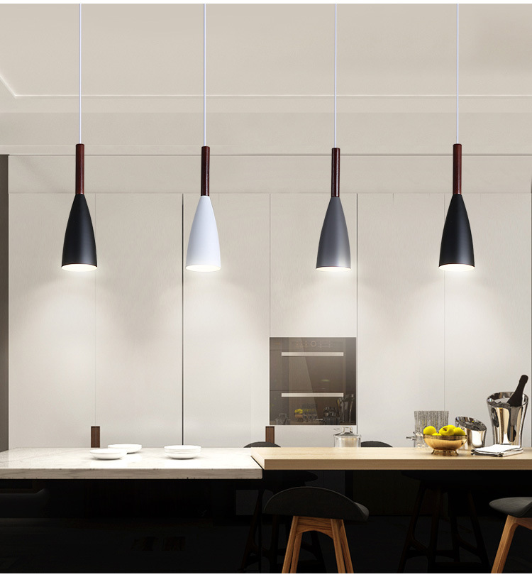 LuKLoy Modern Pendant Light Kitchen Hanging Lamp Dining Room Kitchen Lighting Fixture Loft Decor Wood Hanglamp luminaire Lustre (18)