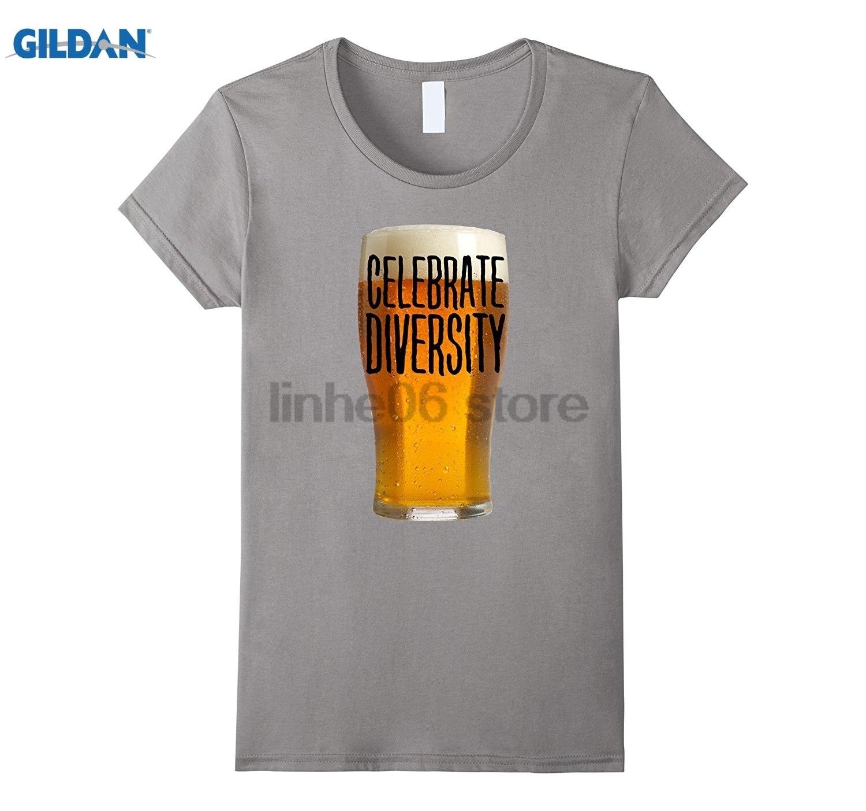 GILDAN Celebrate Beer Diversity shirt dress T-shirt