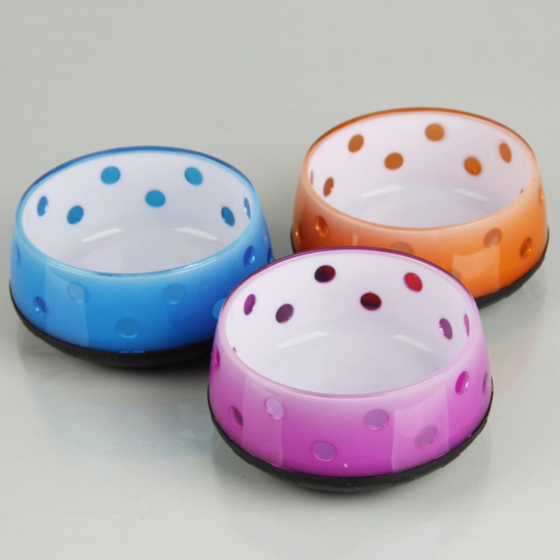Colorful Fashion Dog Feeding Bowl Cat Puppy Food Dish Pet Drink Water Bowl