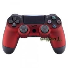 Soft Touch тени красный спереди Корпус оболочки крышка лицевой панели для PS4 Pro тонкий игровой контроллер JDM-040 JDM-050 JDM-055-SP4FX12