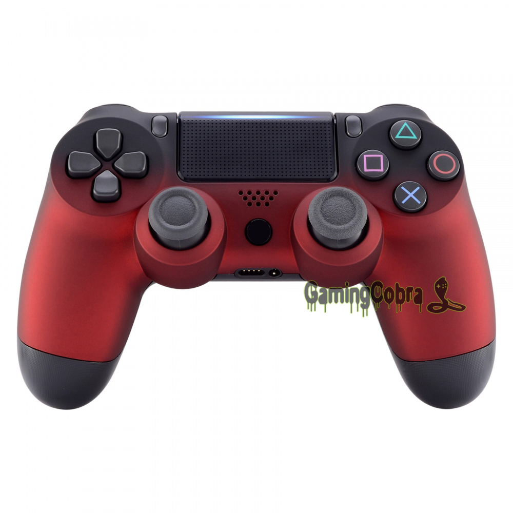Soft Touch Shadow Red Front Housing <font><b>Shell</b></font> Faceplate Cover for PS4 Pro Slim Game Controller <font><b>JDM</b></font>-040 <font><b>JDM</b></font>-050 <font><b>JDM</b></font>-<font><b>055</b></font> - SP4FX12 image