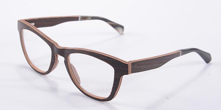vintage eyeglasses frame reading glasses black walnut glasses frame myopia women expensive male brand name fashion