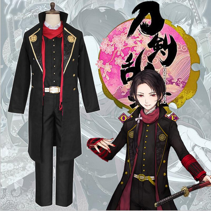 New Japan Anime Kashuu Kiyomitsu Uniform Touken Ranbu Cosplay Costume Cool man Samurai Uniforms All Sets 2pcs universal car daytime running light led cob 12v drl auto driving front fog lamp white bulb waterproof 6000k