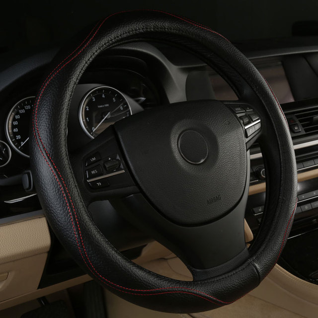 car steering wheels cover genuine leather accessories for Chrysler 200 300 300C 300M Aspen Cirrus Concorde Crossfire