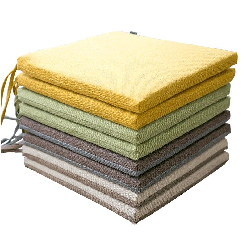 40x40cm/45x45cm Plaid Chair Cushion Mat Pad Meditation
