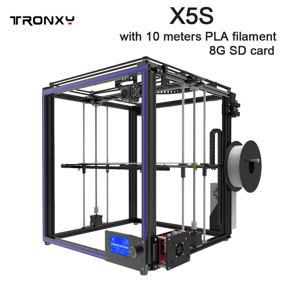 Tronxy Grande taille zone D'impression 3D imprimante X5S DIY kits en aluminium profil joint 12864 LCD contrôleur bowden extrudeuse Grand heatbed plaque - 6