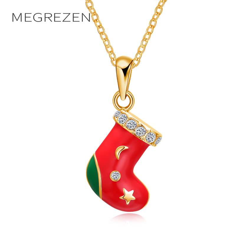 MEGREZEN Statement Gold Color Necklace With Stones Women Jewelry Necklaces Chokers On The Neck For Girls Christmas Gifts N1220-5