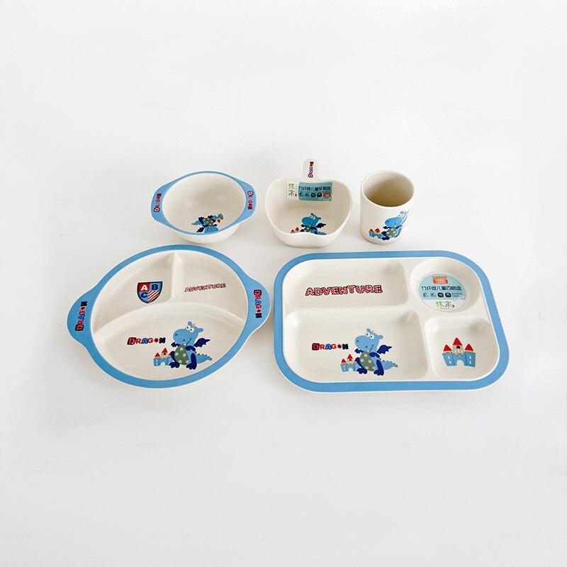 Zastawa stołowa dla dzieci Zestaw naczyń obiadowych z bambusa Fiber - Karmienie - Zdjęcie 1
