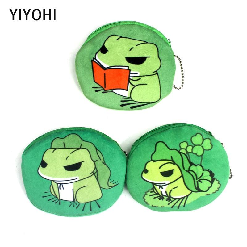 Cute Frog Baby Girls Mini Messenger Coin Bag Cute Plush Cartoon Boys Small Coin Purse Children Handbags Kids Shoulder Mini Bags