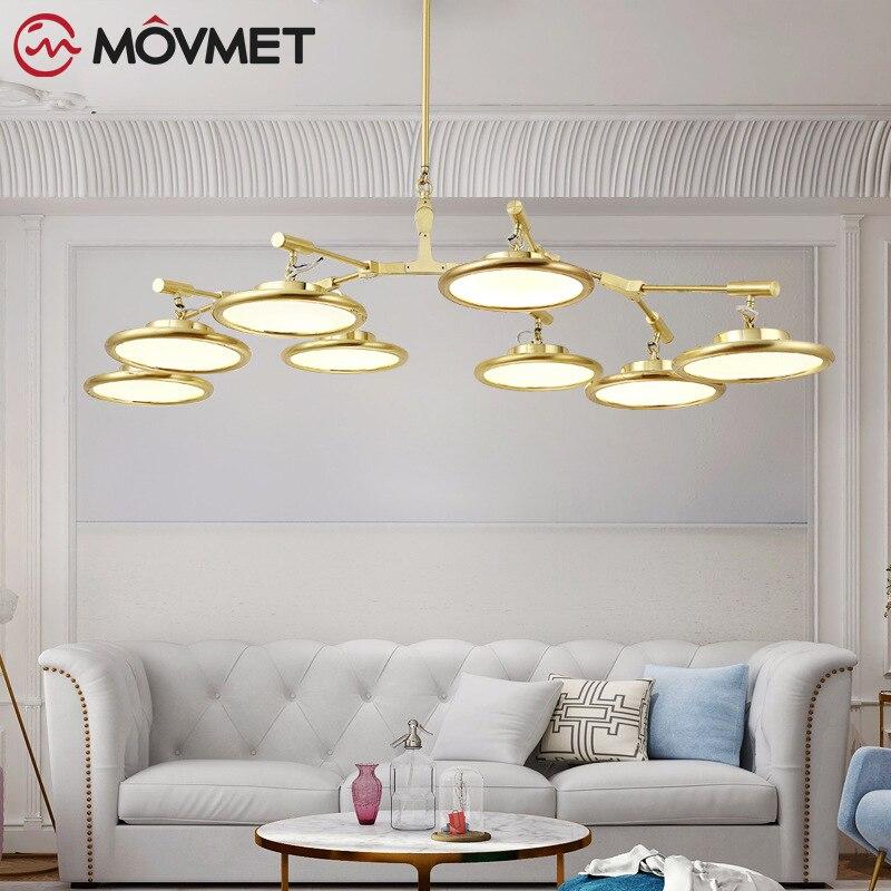 Moderne LED Lustre luminaires pour salon cristal abat-jour décor maison éclairage noir or chambre Lustre lampe AC110-240V
