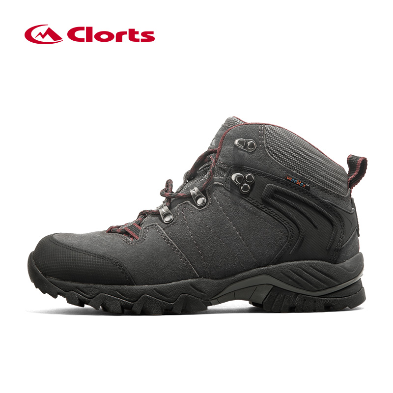 Clorts Winter Sneakers for Men Waterproof Tactical Boots Suede Breathable Hiking Shoes Mid-cut Trekking Shoes Men Mountain Boot seger носки trekking mid черный